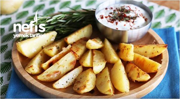 Fırında Yoğurt Soslu Patates