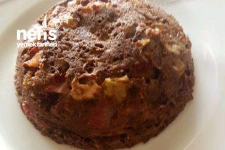 3 Dakikada Diyet Kek (Mikrodalga Fırında Şekersiz Unsuz) Tarifi