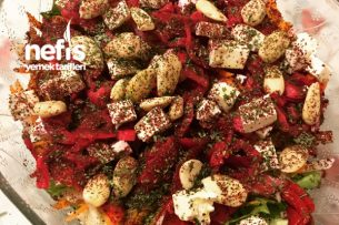 Peynirli Badem Salatası Tarifi