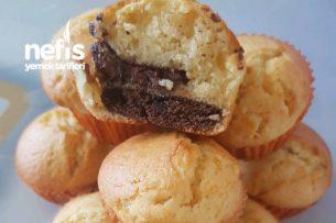 Kurabiye Çikolata Dolgulu Muffin Tarifi