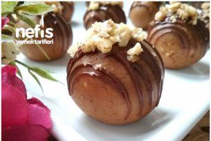 5 Dakikada Elmalı Lezzet Topları (Pişirmeden) Tarifi