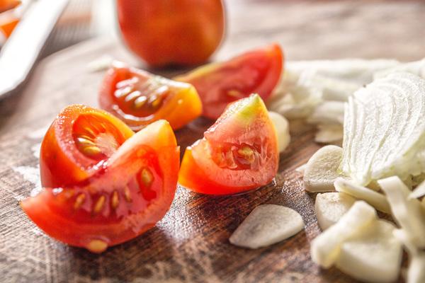 dilimlenmiş domates