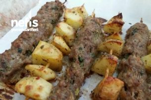 Fırında Çöp Şiş Köfte Ve Patates Tarifi