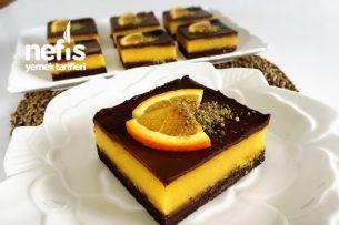 Portakallı Çikolatalı Dilimler (Videolu) Tarifi