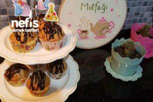 Tam 12 Kişilik Elmalı Tarçınlı Cevizli Muffinlerim Tarifi
