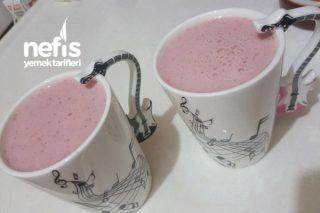 Ev Yapımı Çilekli Süt (Ballı) Tarifi