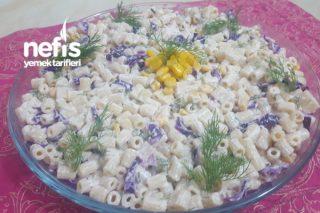 Günlere Yakışır Mor Lahanalı Makarna Salatası Tarifi