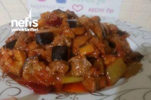 Etli Patlıcan Yemeği Tarifi