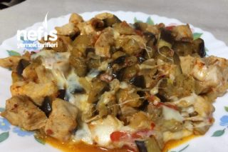 Kaşarlı Tavuklu Patlıcan Sote Tarifi