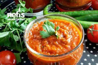 Közlenmiş Patlıcanlı Kahvaltılık Sos (videolu) Tarifi
