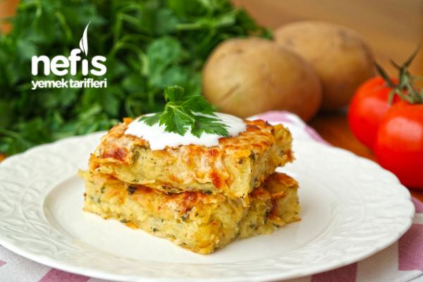 Fırında Patates Mücver Tarifi (videolu)