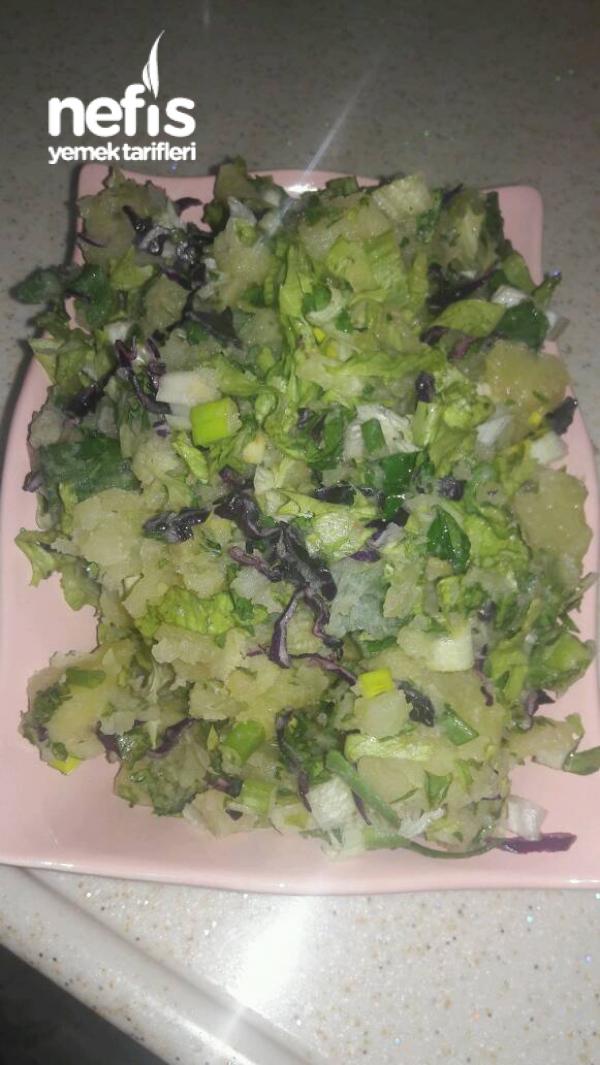 Lezzetli Patates Salatası