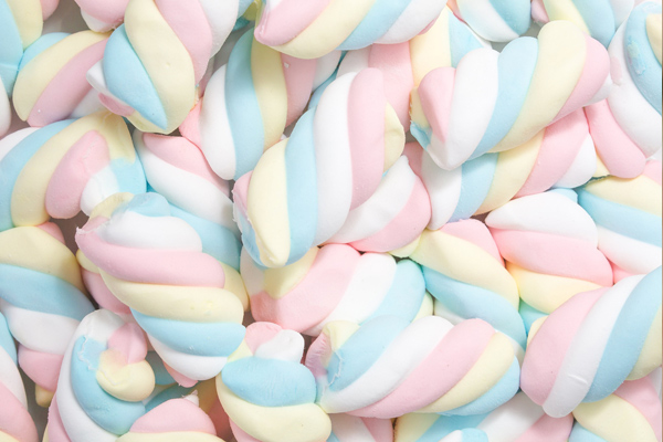 renkli marshmallow
