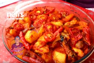 Fırında Sebzeli Tavuk Kebabı (videolu) Tarifi