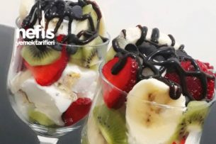 Meyveli Dondurma Sunumu Tarifi
