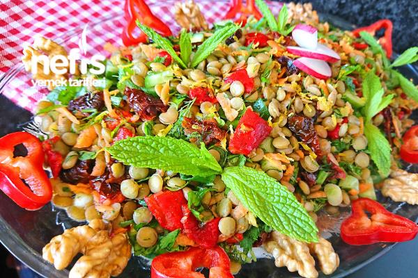 Nefis Yeşil Mercimek Salatası Tarifi