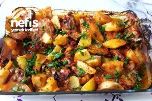 Fırında Patetesli Tavuk Pirzalo Tarifi