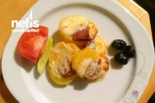 Kaşar Ve Sucukla Buluşan Patates Tarifi