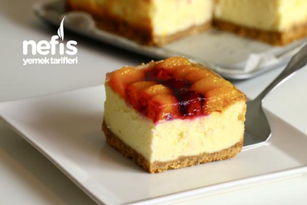 Tam kıvamlı Meyveli Cheesecake (videolu)