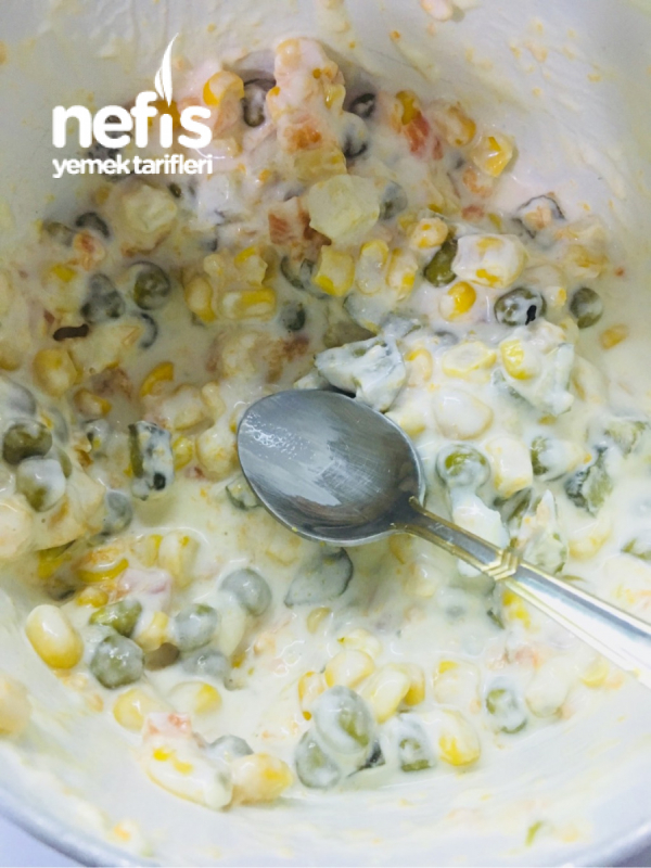 Patates Çanağında Rus Salatası (Pratik)