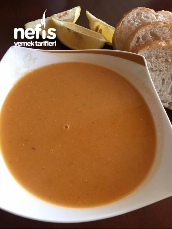 Sebzeli Nefis Mercimek Çorbası