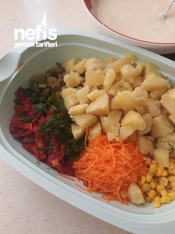 Yoğurtlu Patatesli Karışık Salata