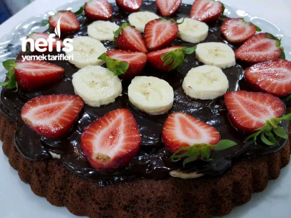 Çikolata Ganajlı Yulaflı Kek