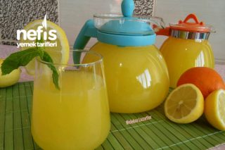 4 Limon 1 Portakal ile Doğal Limonata (Acısız Garanti Lezzet) Tarifi