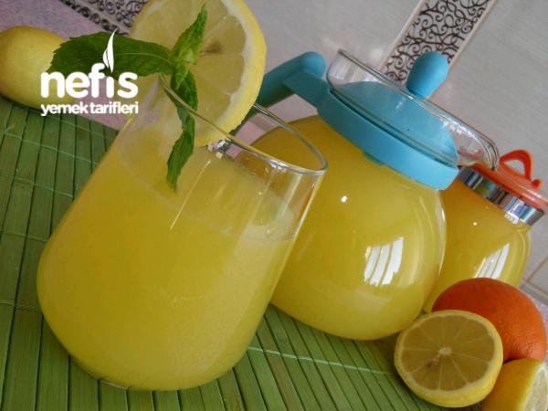 4 Limon 1 Portakal ile Doğal Limonata (Acısız Garanti Lezzet)