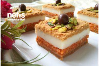 Muhallebili Cezerye Pasta (Bomba Lezzet) Tarifi