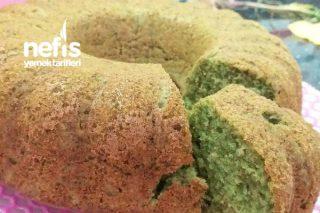 Antepfıstıklı Görünümünde Ispanaklı Kek Tarifi