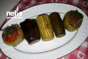 Karışık Dolma (Kabak, Patlıcan, Salatalık) Tarifi