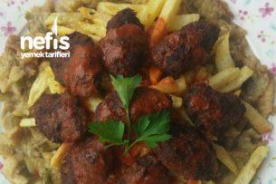 Köz Patlıcanlı Patates Köfte Tarifi