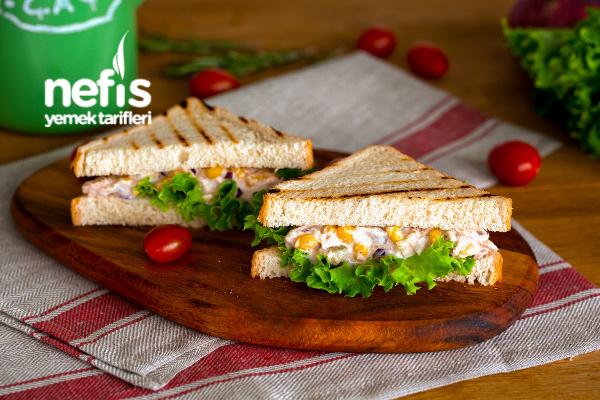 Ton Balıklı Sandviç Yapımı (videolu)