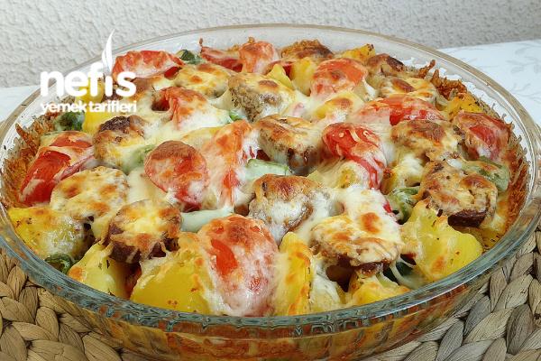 Fırında Kaşarlı Haşlanmış Patatesli Kahvaltılık Tarifi
