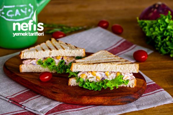 Ton Balıklı Mayonezli Sandviç Tarifi (videolu)