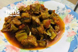 Az Malzemeli Çok Lezzetli Etli Patlıcan Güveç Tarifi