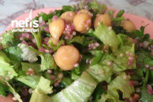 Kinoalı, Karabuğdaylı, Nohutlu Diyet Salata Tarifi