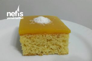 Portakallı Islak Kek ( Portakal Muhallebili ) Tarifi