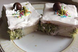 Ispanaklı Poke Kek Tarifi