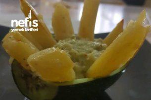 Avokadolu Dip Sos Eşliğinde Patates Kızartması Tarifi