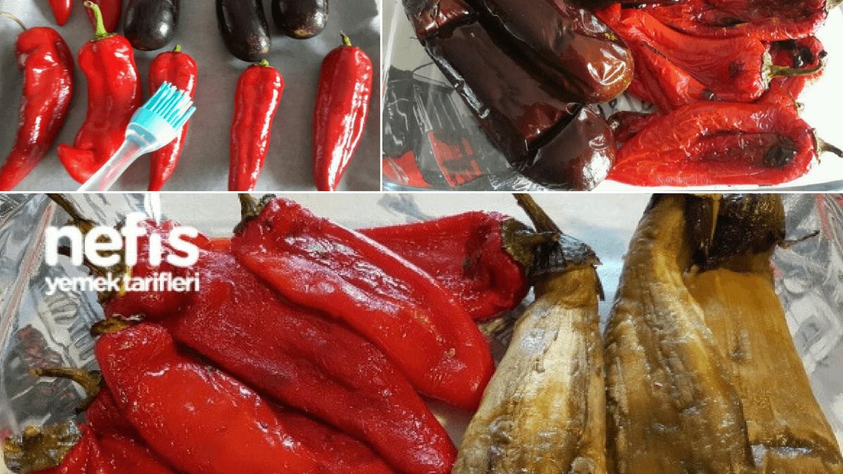 Közlenmiş Biber ve Patlıcan Soymanın Pratik Yöntemi