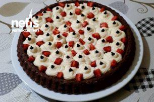 Meyveli Kremalı Tart Kek (Çocuklarınız Bunu Çok Sevecek) Tarifi