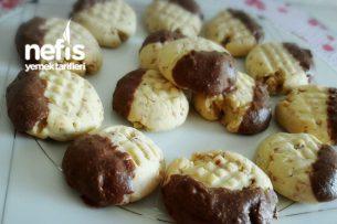 Kavrulmuş Susamlı Çikolatalı Cevizli Kurabiye Tarifi