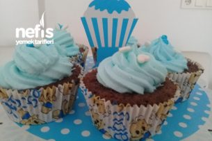 Mavi Cupcake (Bebek Mevlütü İçin) Tarifi