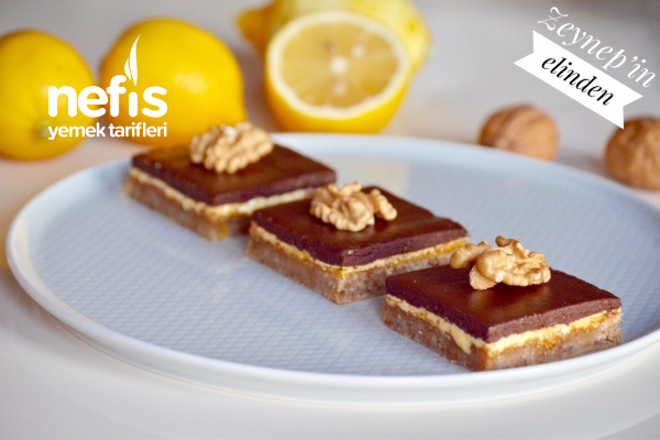 Limonlu Çikolatalı Bar Tarifi