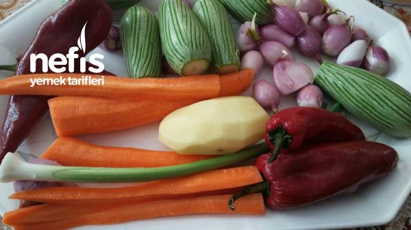 Fırında Muhteşem Zeytinyağlı Sebze Kebabi ((parmak Kebabı))