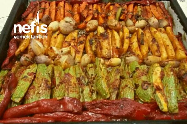 Fırında Muhteşem Zeytinyağlı Sebze Kebabı (Parmak Kebabı) Tarifi