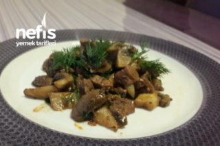 Diyet Mantarlı Etli Protein Akşam Yemeği Tarifi