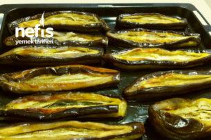 3 Kaşık Yağ İle Karnıyarıklık Patlıcan Kızartma (Çok Pratik) Tarifi